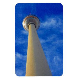 berlin tower blue rectangular photo magnet