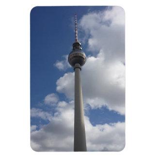 berlin tower clouds rectangular photo magnet