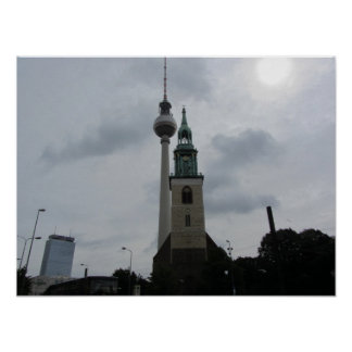 Berlin TV Tower Poster