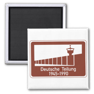 Berlin Wall 1945-1990, Berlin Wall, Germany Sign Square Magnet