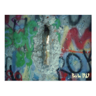 Berlin Wall - Two Days After - 1989 Postcard