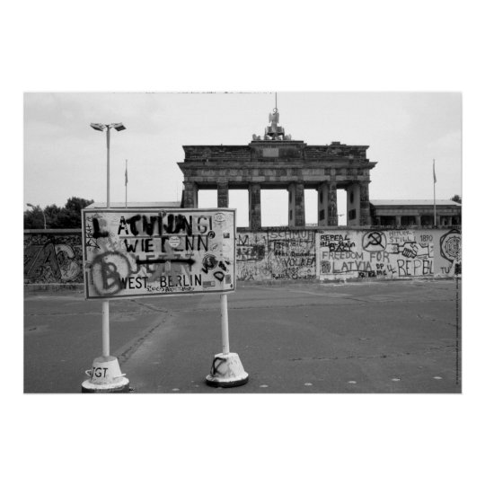 Berlin Wall West Germany 1989 Poster