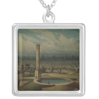 Berlin waterworks, c.1860 silver plated necklace