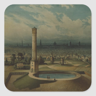 Berlin waterworks, c.1860 square sticker