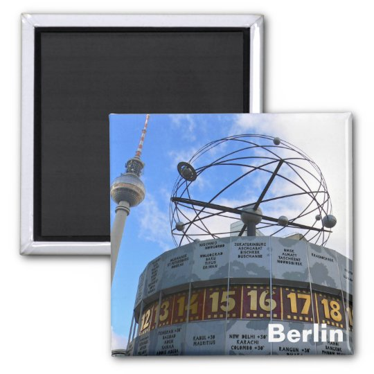 Berlin, World Time Clock Magnet