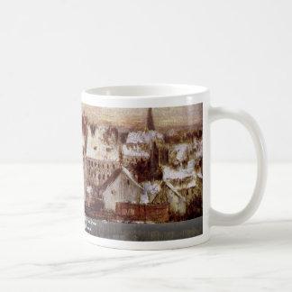 Berliner Back Houses In The Snow Coffee Mugs