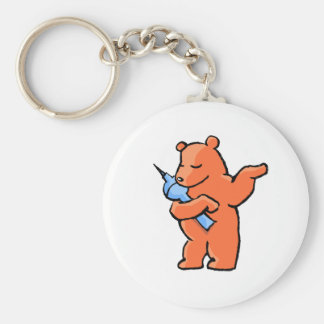 Berliner Bear! Basic Round Button Key Ring