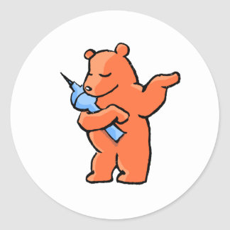 Berliner Bear! Classic Round Sticker