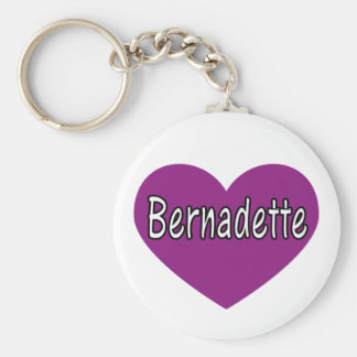 Bermadette Basic Round Button Key Ring