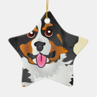 Bermese Mountain Dog Christmas Ornament