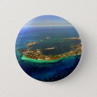 Bermuda Aerial Photograph 6 Cm Round Badge