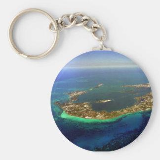Bermuda Aerial Photograph Key Ring