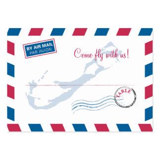 Bermuda Air Mail Escort/Seating Card Wedding Business Card Template