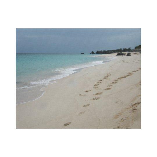 Bermuda beach canvas print