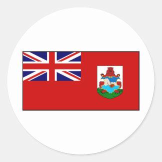 Bermuda Bermudian Flag Round Sticker