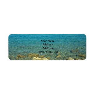 Bermuda Blue Green Waters Return Address Label