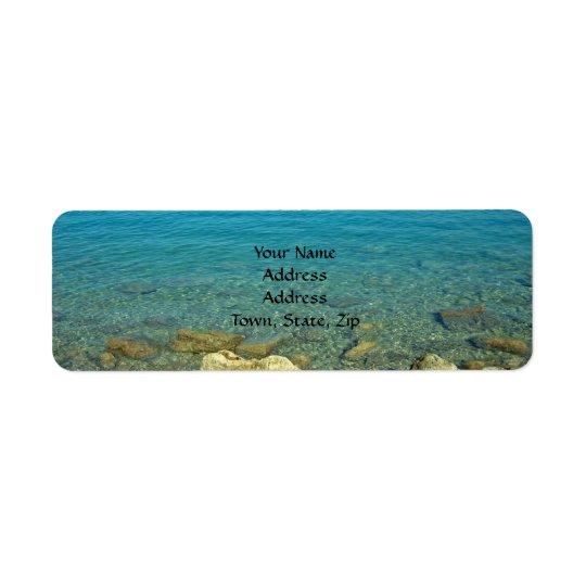 Bermuda Blue Green Waters Return Address Label