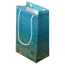 Bermuda Blue Green Waters Small Gift Bag