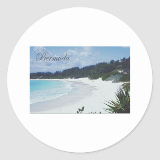 Bermuda Classic Round Sticker