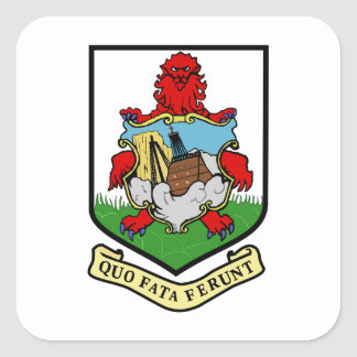 Bermuda Coat of Arms Square Sticker