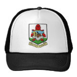 Bermuda Coat Of Arms With Motto Mesh Hats