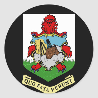 bermuda emblem round sticker