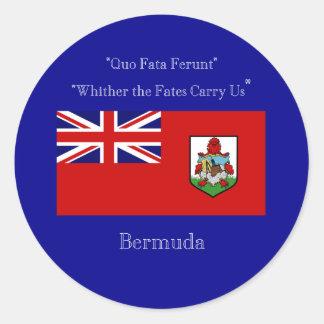 Bermuda Flag and Motto Sticker