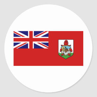 Bermuda Flag BM Classic Round Sticker