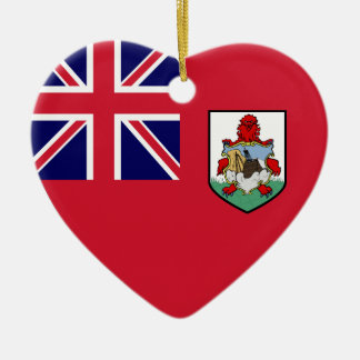 Bermuda Flag Heart Christmas Ornament