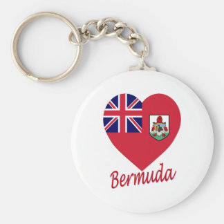 Bermuda Flag Heart Key Ring