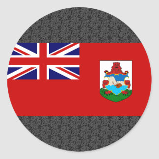 Bermuda Flag Round Stickers