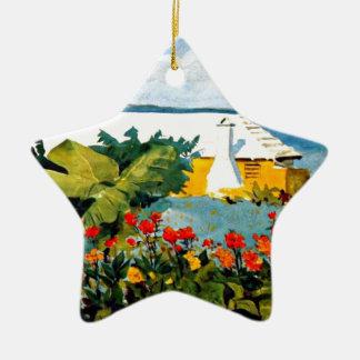 Bermuda - Flower Garden and Bungalow Christmas Ornament