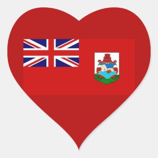 Bermuda National Flag Heart Sticker