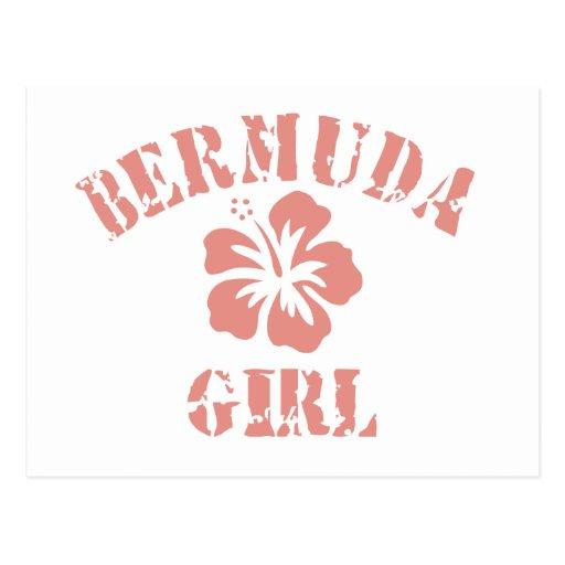Bermuda Pink Girl Postcard