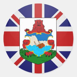 Bermuda quality Flag Circle Round Sticker