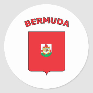 Bermuda Round Sticker