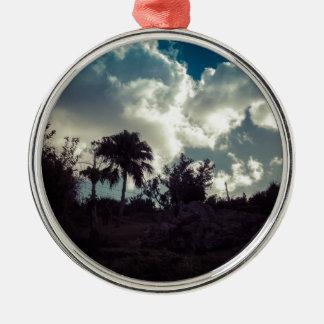 Bermuda Sky Behind Hilltop Christmas Ornament