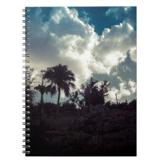 Bermuda Sky Behind Hilltop Notebook