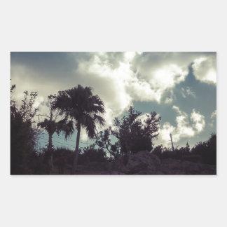 Bermuda Sky Behind Hilltop Rectangular Sticker