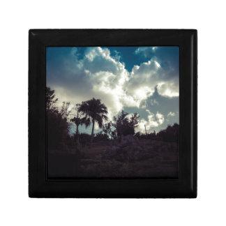 Bermuda Sky Behind Hilltop Small Square Gift Box