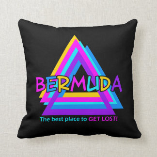 Bermuda Triangle custom throw pillow