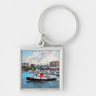 Bermuda - Tugboat Going Into Hamilton Harbour Keychains