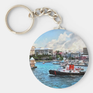 Bermuda - Tugboat Going Into Hamilton Harbour Key Chains