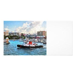 Bermuda - Tugboat Going Into Hamilton Harbour Custom Photo Card
