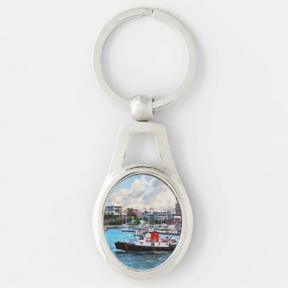 Bermuda - Tugboat Going Into Hamilton Harbour Key Chain