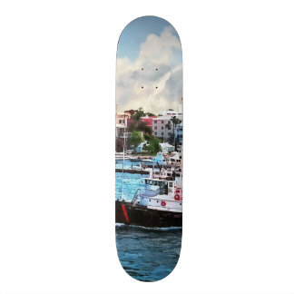 Bermuda - Tugboat Going Into Hamilton Harbour Skate Deck