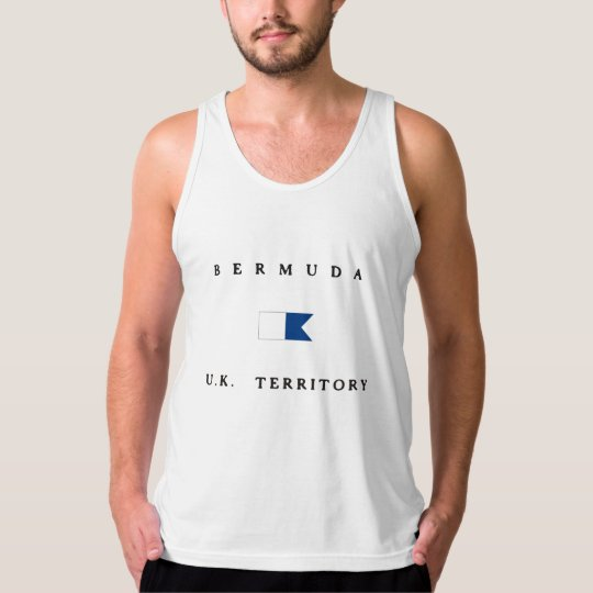 Bermuda UK Territory Alpha Dive Flag Tank Top