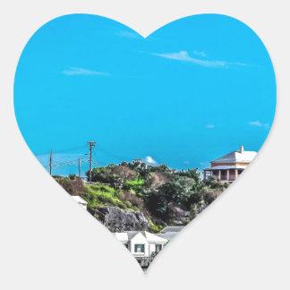 Bermuda View Heart Sticker