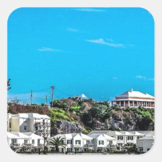 Bermuda View Square Sticker