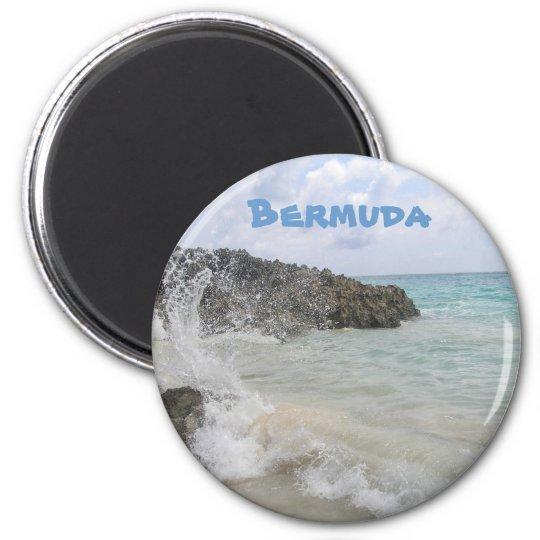 Bermuda Wave 6 Cm Round Magnet